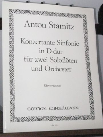 Stamitz A - Konzertante Sinfonie in D for 2 Flutes & Piano arr Gronefeld I